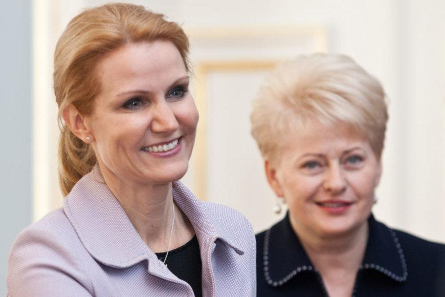 Prezidentė Dalia Grybauskaitė su Danijos ministre pirmininke Helle Thorning-Schmidt