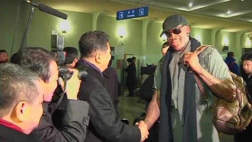 Dennisas Rodmanas Šiaurės Korėjoje