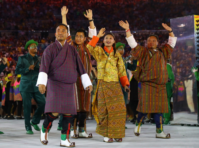 "AFP/""Scanpix"" nuotr./Butano delegaciją sudaro vos dvi atletės"