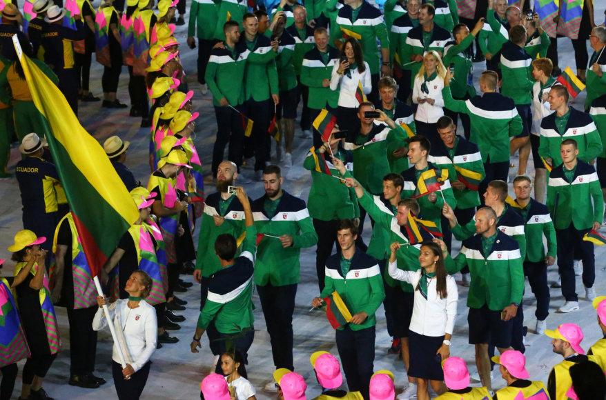 """AFP/""""Scanpix"""" nuotr./Lietuvos olimpinė delegacija"""