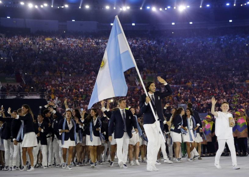 "AFP/""Scanpix"" nuotr./Luisas Scola ir Argentinos komanda"