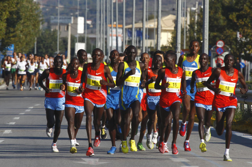 Maratono bėgikai