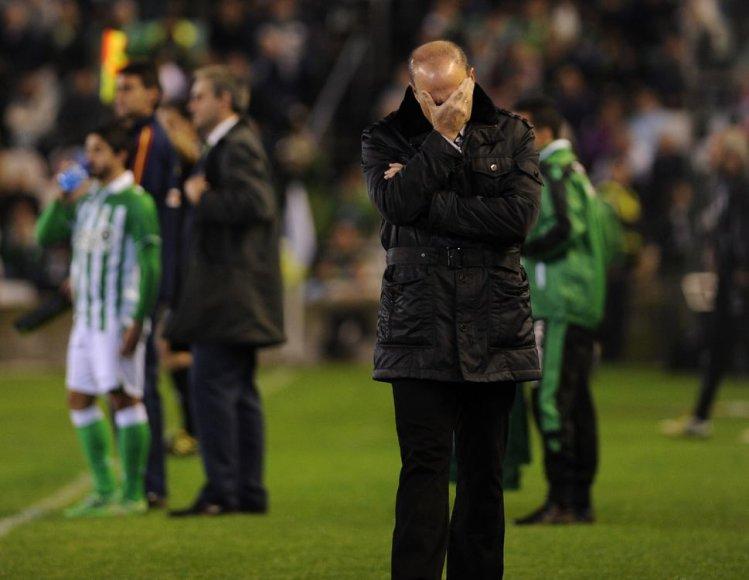 """""""Real Betis"""" treneris Pepe Melas nusivylė komandos žaidimu"""