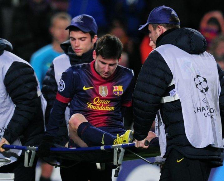 Lionelis Messi po traumos