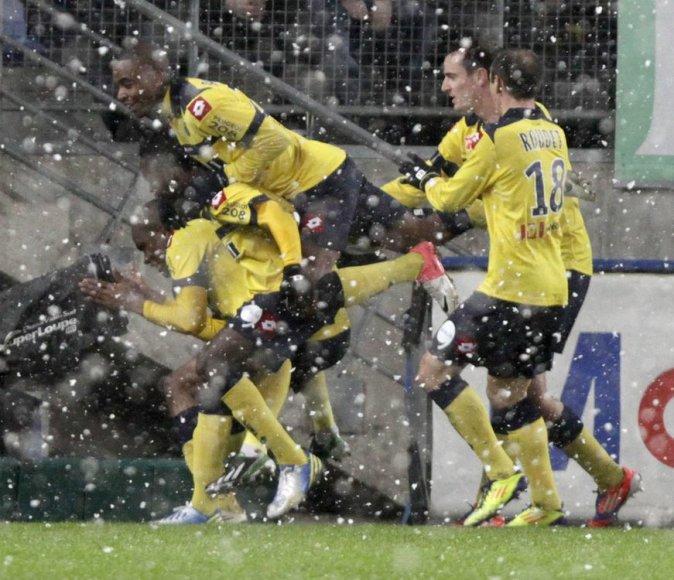 """""""Sochaux"""" futbolininkų džiaugsmas"""