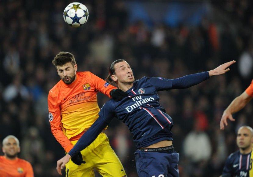 Gerrardas Pique ir Zlatanas Ibrahimovičius.