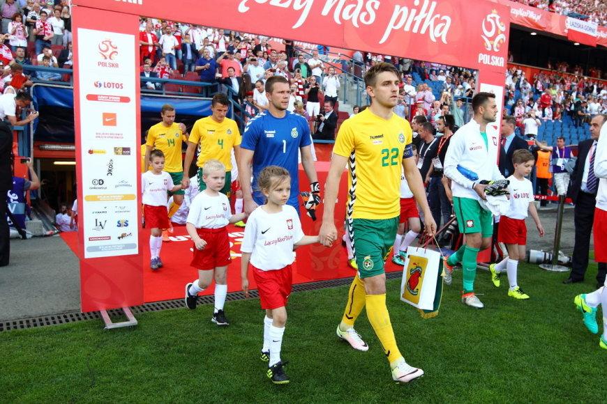 Sauliaus Čirbos/LFF.lt nuotr./Emilijus Zubas rinktinėje paskutinį kartą žaidė 2016 m. birželį su Lenkija