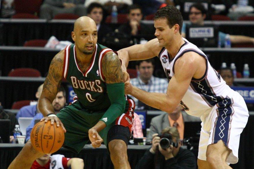 """""""Milwaukee Bucks"""" ekipos žaidėjas Drew Goodenas nepagarbiai kalba apie """"Chicago Bulls"""" komandą."""