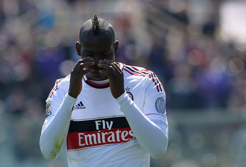 """Milan"" puolėjas Mario Balotelli"