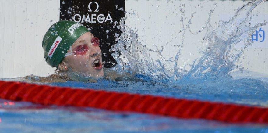 Rūta Meilutytė – pasaulio plaukimo čempionato aukso medalio laimėtoja