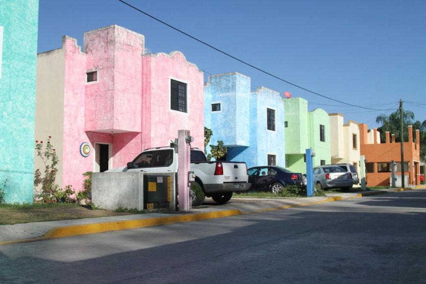Spalvoti Meksikos namai