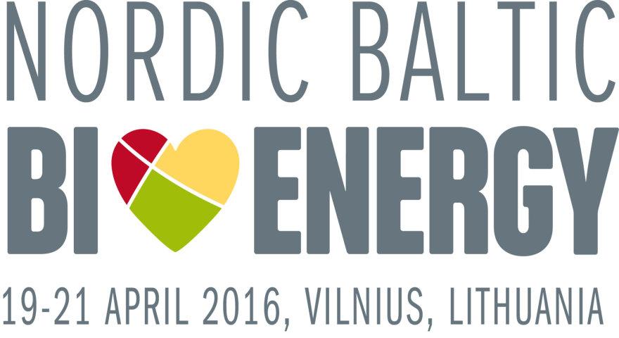 """""""Nordic Baltic Bioenergy"""" nuotr./""""Nordic Baltic Bioenergy 2016"""" logotipas"""