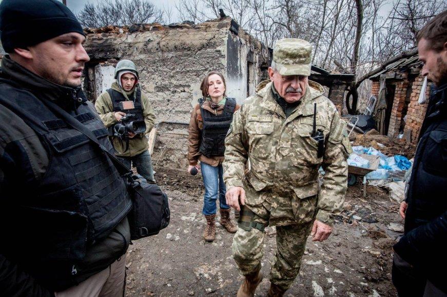 Vidmanto Balkūno/15min.lt nuotr./Ukrainos armjos 14-osios brigados 1-ojo mechanizuotojo pėstininkų bataliono vadas papulkininkis Michailas Michailovičius Prokopivas