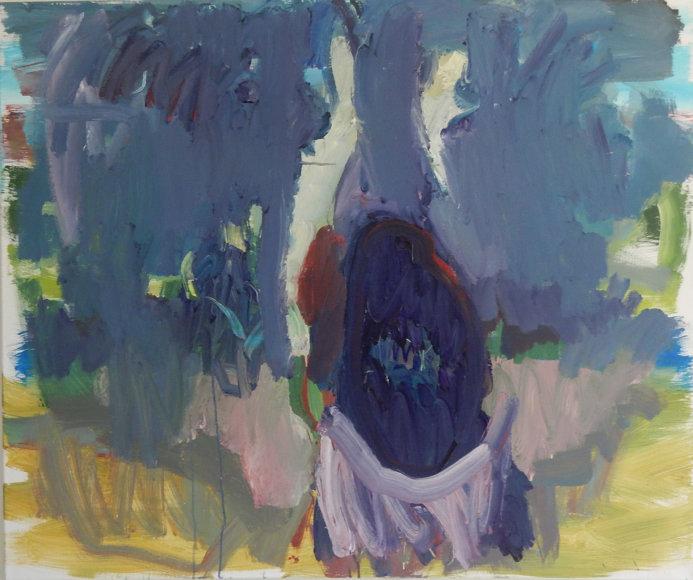 """Gusto Jagmino tapybos daras/""""Buvom prasilenkę karališkame dramos būrelyje.Gausi slyvą"""""""