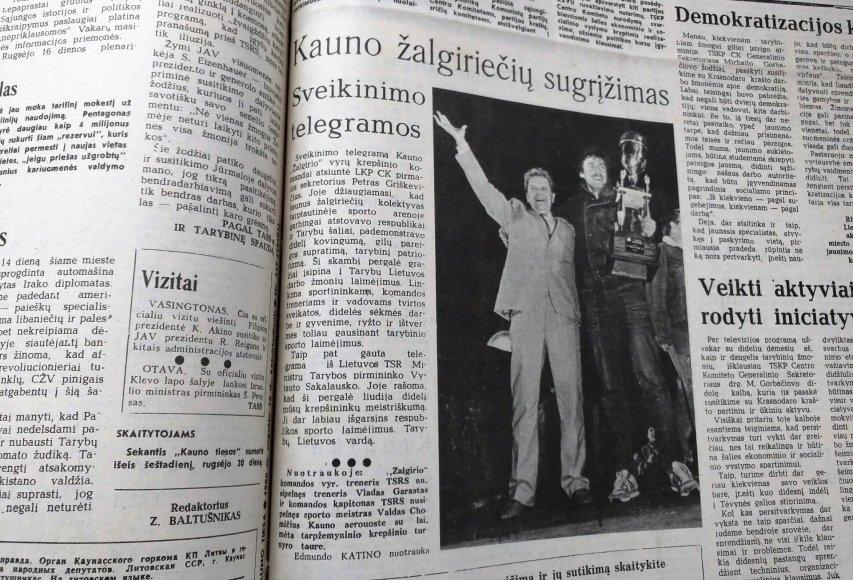 Partnerio nuotr./Spauda prieš 30 metų