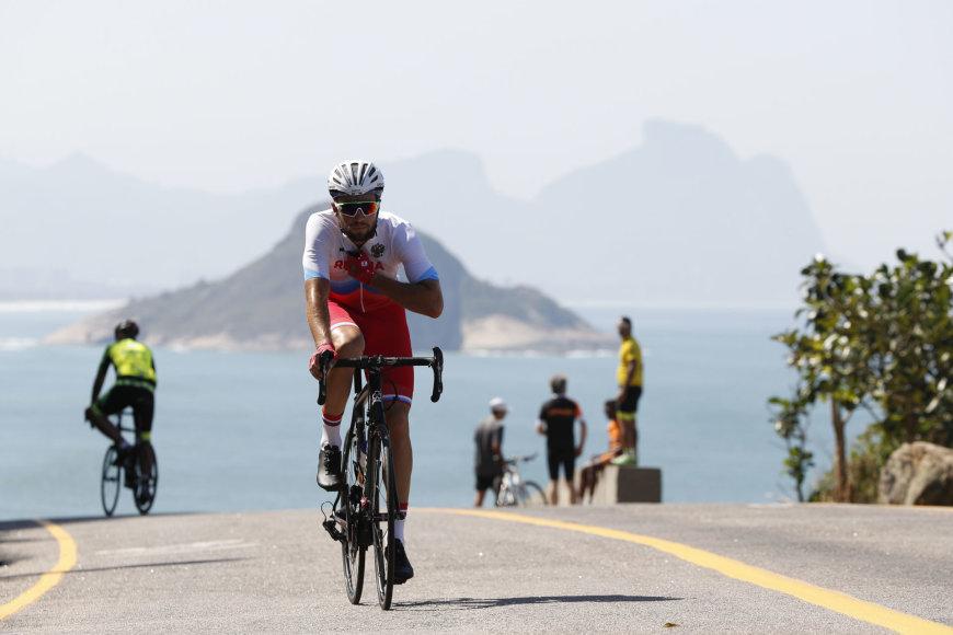 """""""Scanpix"""" nuotr./Olimpinių žaidynių vyrų plento dviračių grupinės lenktynės"""