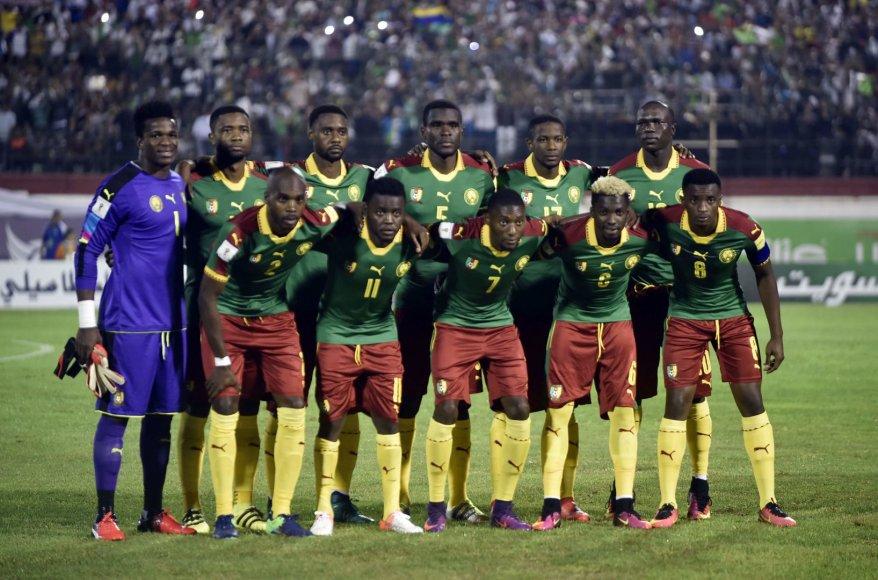 "AFP/""Scanpix"" nuotr./Kamerūno futbolo rinktinė"