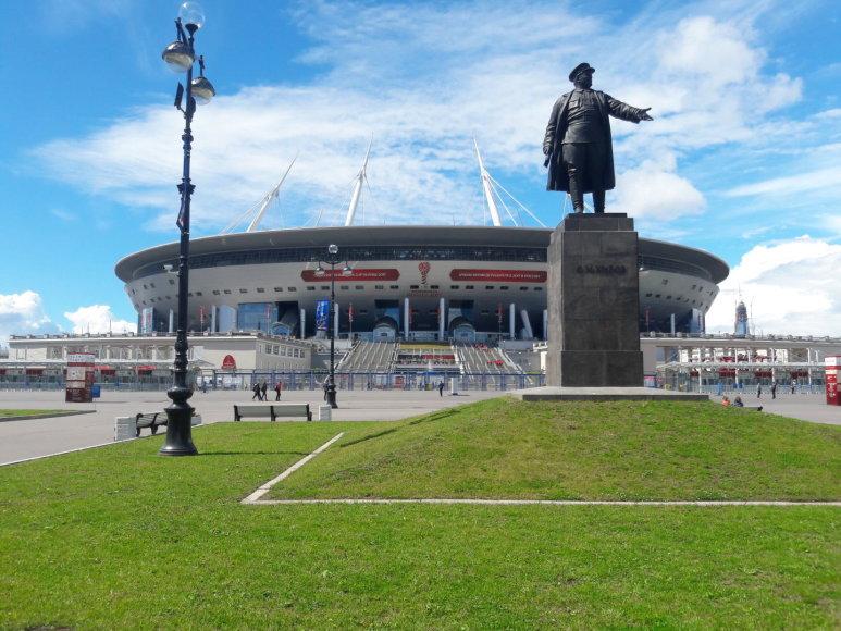 """Mariaus Bagdono nuotr./Sankt Peterburgo """"Krestovskij"""" stadionas"""