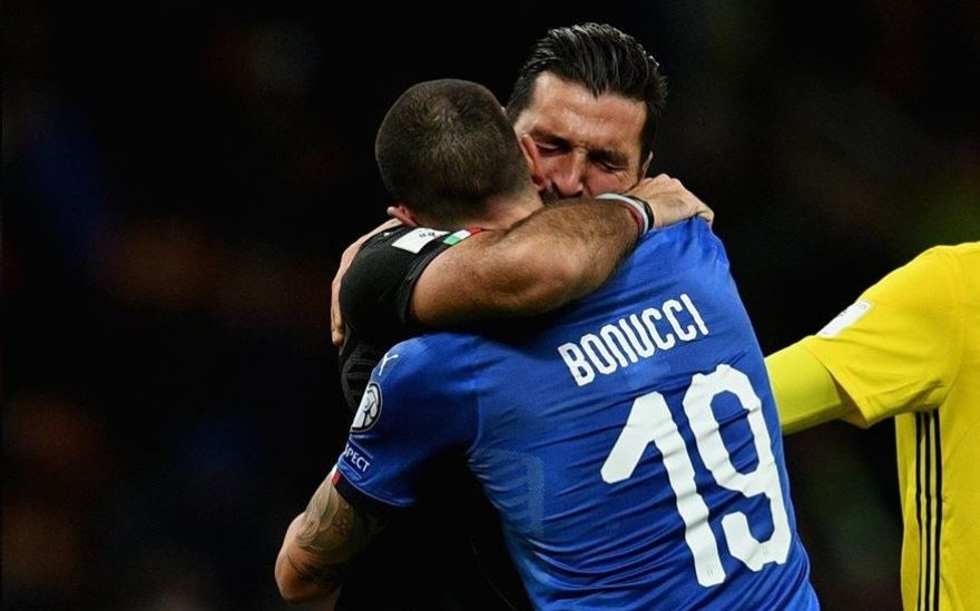 UEFA nuotr./Gianluigi Buffonas ir Leonardo Bonucci