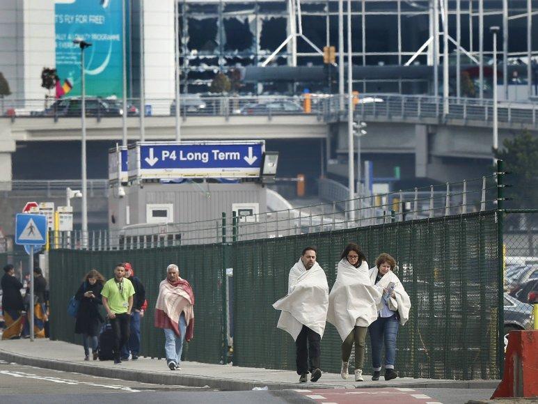 """""""Reuters""""/""""Scanpix"""" nuotr./Briuselis po sprogdinimų oro uoste ir metro stotyje"""