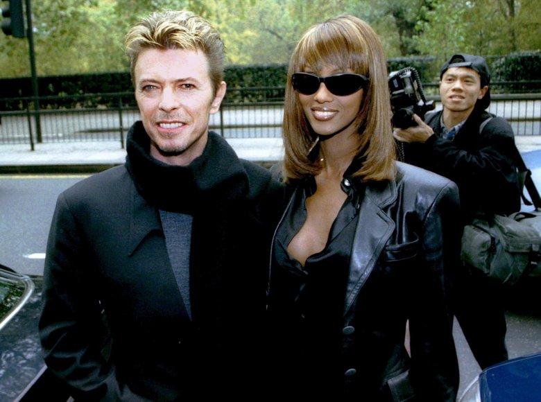 """""""Reuters""""/""""Scanpix"""" nuotr./Davidas Bowie su žmona Iman"""