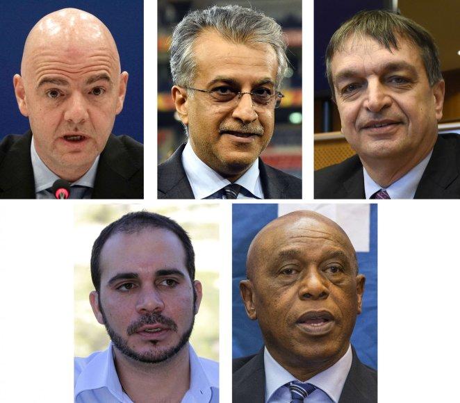 """AFP/""""Scanpix"""" nuotr./Penki kandidatai į FIFA postą"""