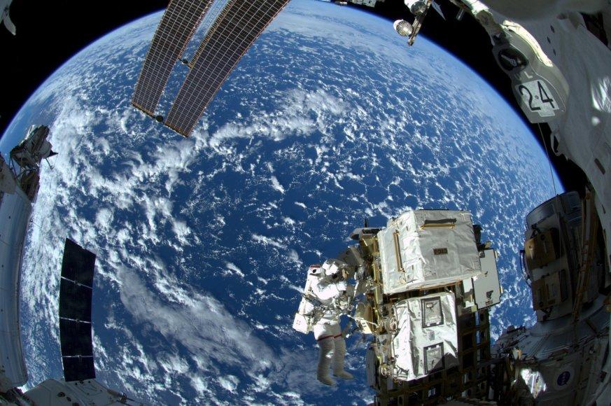 """""""Reuters""""/""""Scanpix"""" nuotr./Tarptautinė kosminė stotis"""