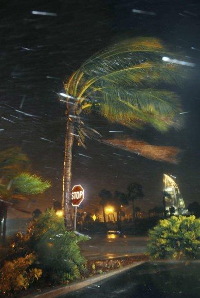 """""""Scanpix""""/AP nuotr./Uraganas Metju Floridoje"""