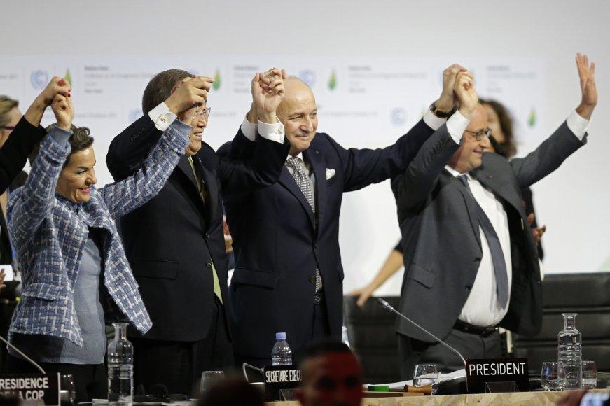 """""""Reuters""""/""""Scanpix"""" nuotr./Paryžiaus klimato susitarimo pasirašymas"""