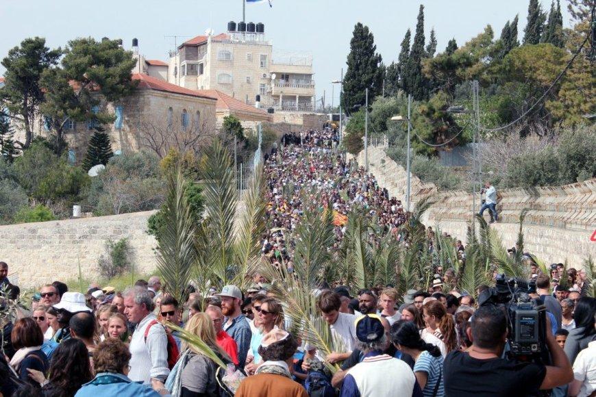 Giedrės Steikūnaitės nuotr/Velykos (Palmių sekmadienis) Jeruzalėje