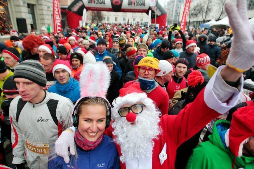 Organizatorių nuotr./Kalėdinis bėgimas
