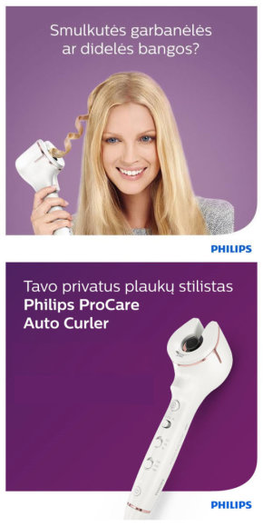 Projekto partnerio nuotr./Philips AutoCurler