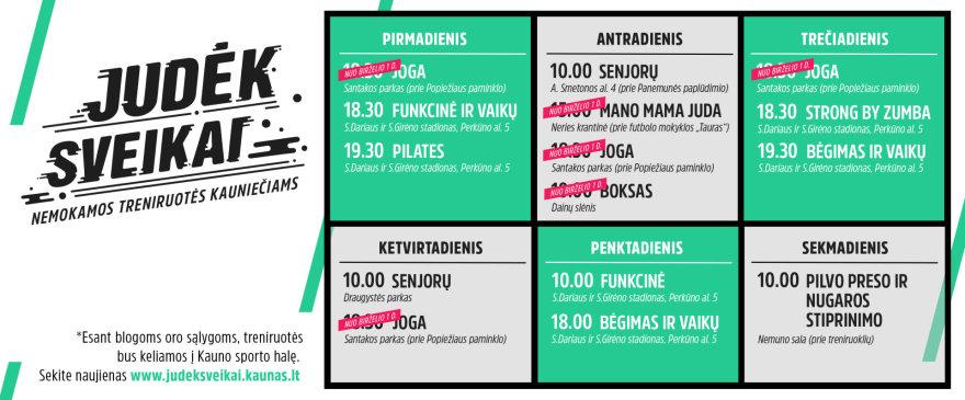 """Kauno miesto savivaldybės nuotr./Nemokamų treniruočių projektas """"Judėk sveikai"""""""