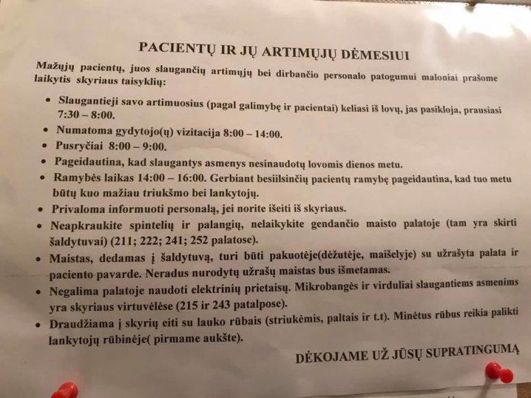 Justinos Butvilaitės-Ruzveltės nuotr./Taisyklės, tarp kurių – negalėjimas naudoti virdulio palatoje