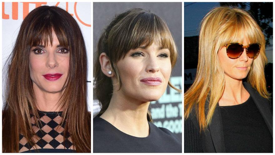 Vida Press nuotr./Sandra Bullock, Jennifer Garner, Heidi KLum
