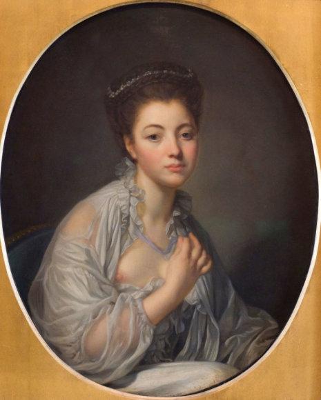 Vida Press nuotr./Jeano-Baptist'o Greuze moters portretas (XVIII a.)