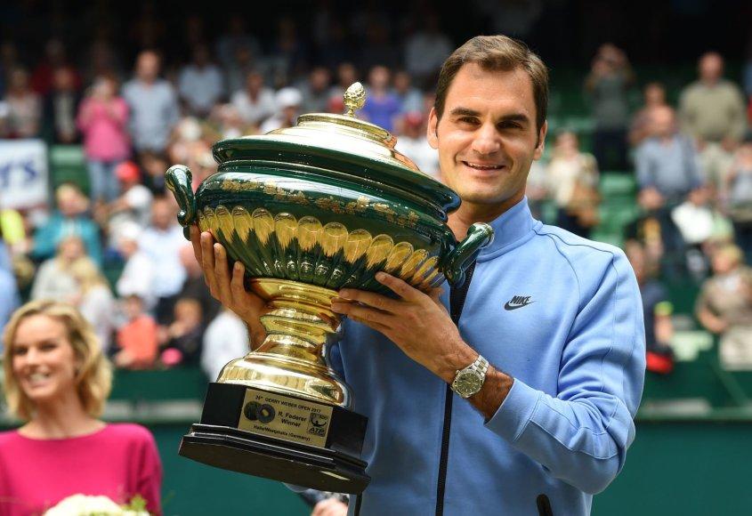 """Scanpix"" nuotr./Rogeris Federeris prieš Alexanderį Zverevą"