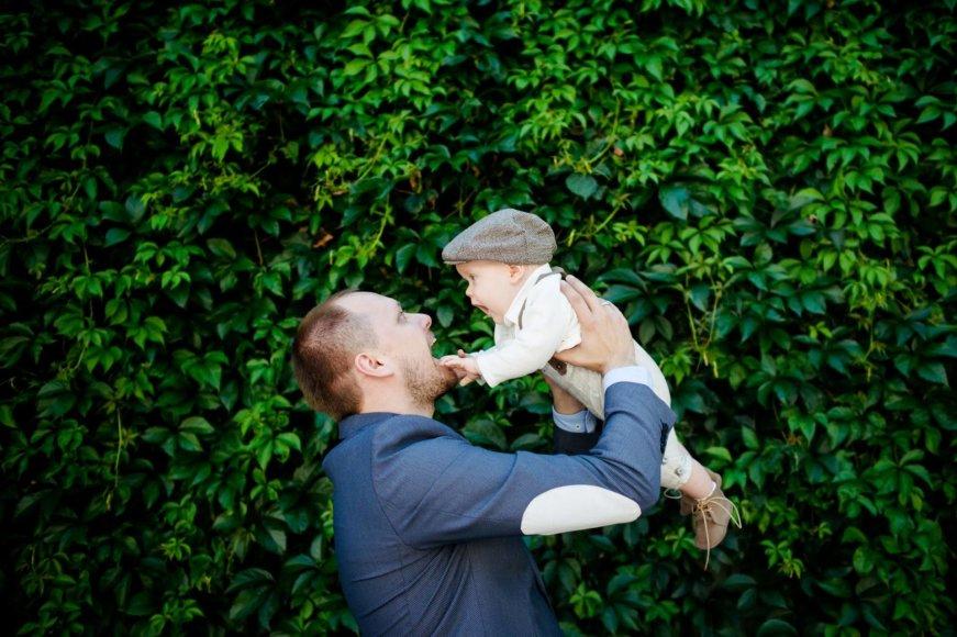 Asmeninė nuotr./Haroldas Šklėrius su sūnumi