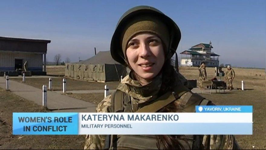 Ukrainoje kariaujančios moterys