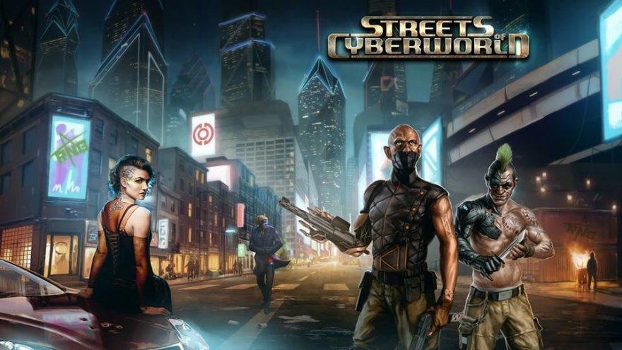 """Žaidimo """"Streets of Cyberwold"""" iliustracijos"""