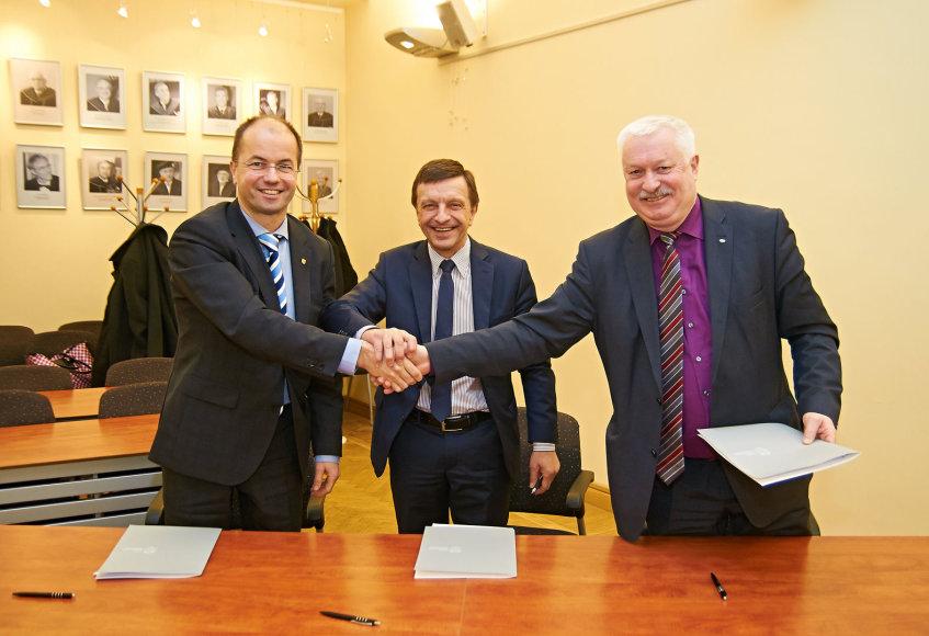 Pasirašyta jungtinė veiklos sutartis tarp KTU, LSMU ir LEI 2