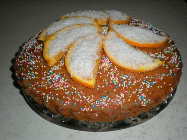 Norvegiškas Velykų pyragas su apelsinais ir šokoladu