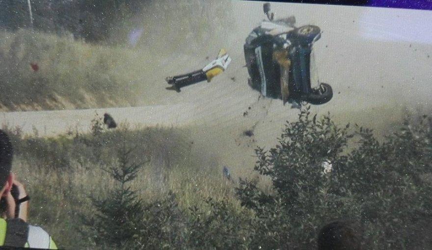 Stop kadras iš Evaldo Bartaškos filmuotos medžiagos/Andrėjaus Prokudino avarija