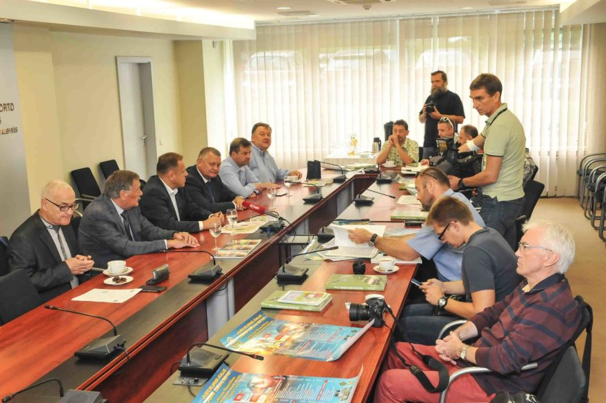 Algimanto Brazaičio nuotr./Varžybų spaudos konferencija