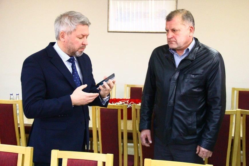 Tomo Markelevičiaus nuotr./Antanas Vagonis ir Eimutis Mališauskas