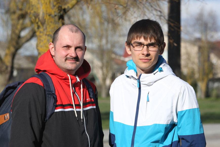 Jevgenijus Titovas ir Igoris Charčenka