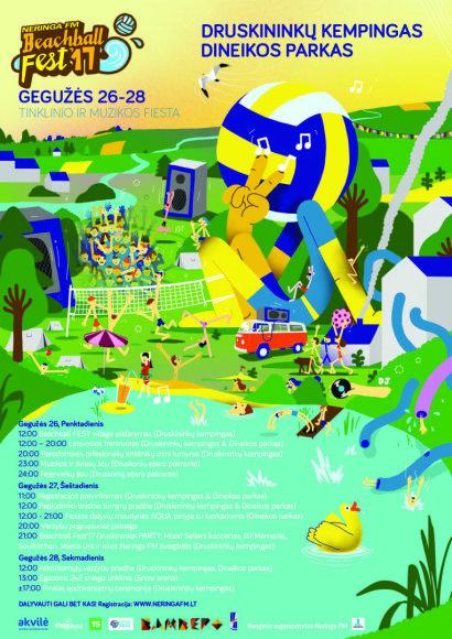 "Organizatorių nuotr./""Neringa FM Beachball FEST'17"" programa"