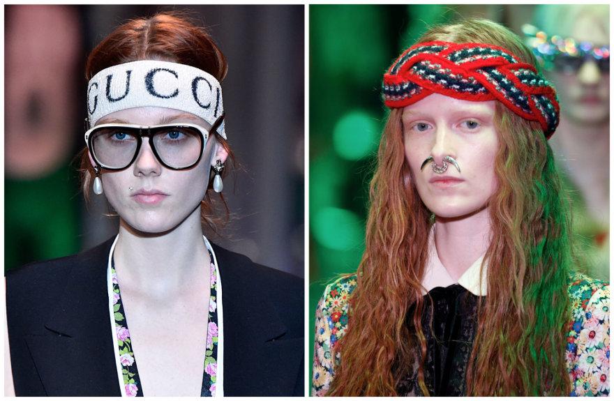 """Vida Press nuotr./""""Gucci"""" 2017–2018 m. rudens ir žiemos kolekcijos modeliai"""