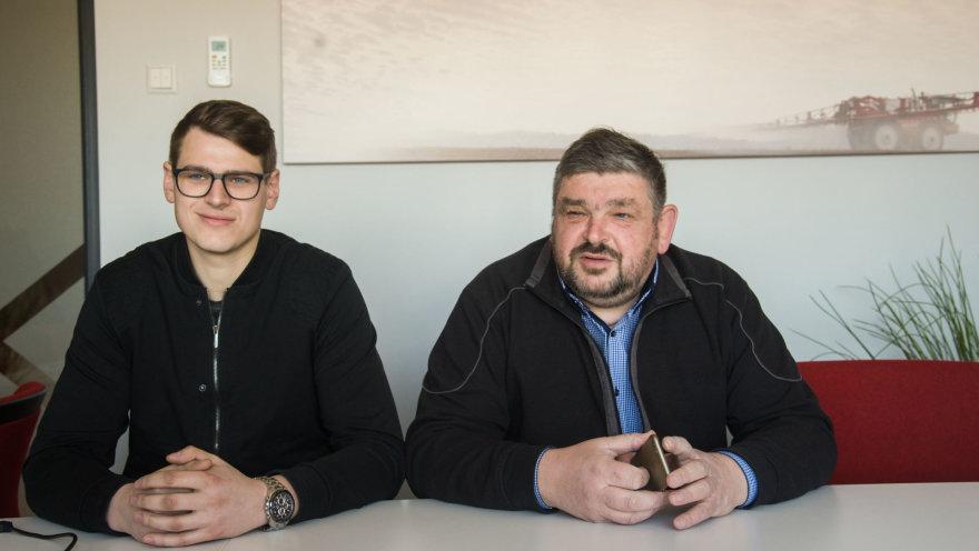 V.Suslavičiaus nuotr./Tėvas ir sūnus Mulevičiai
