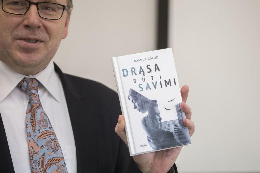 """Žygimanto Gedvilos / 15min nuotr./Knygos """"Drąsa būti savimi"""" pristatymo akimirka"""